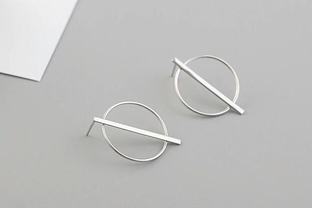 Minimalistische Oorbellen Zilver : Open cirkel oorbellen zilver by caitlin