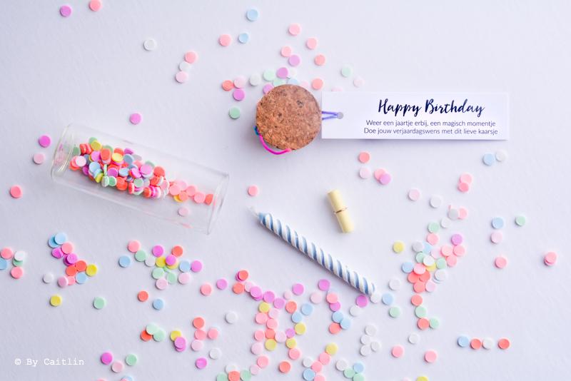 verjaardag wensflesje